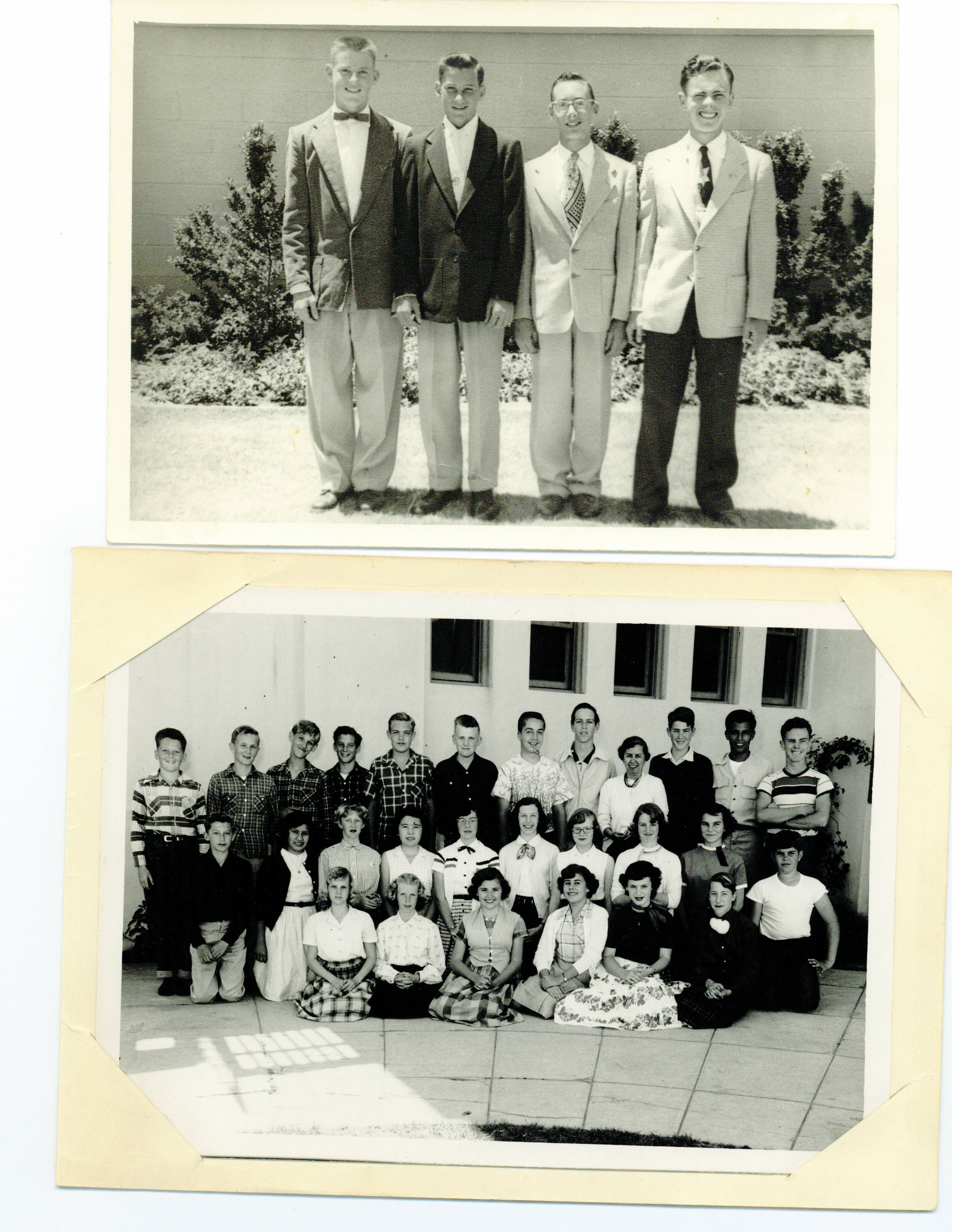 Dan Jr. High Coronado, Track team(2nd lft), and class 1953(4th lft)