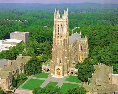 Duke Chapel with courtyard