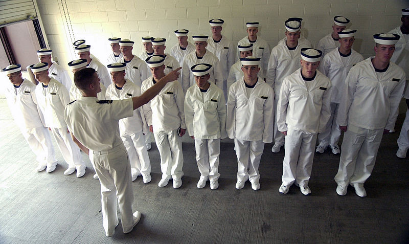 Naval Academy indoctrination of plebes in etiquette