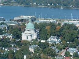 Naval Academy with chapel in Middle