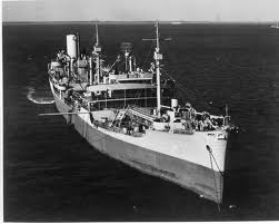 USS Chemung (AO 30) head on