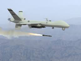 Drone firing a missile