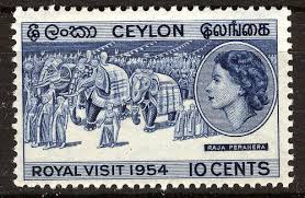 Ceylon Stamp 1954 with Queen