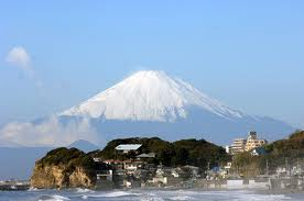 Kamakura Beach with Fujisan in background