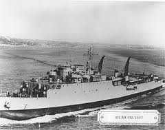 Vietnam USS Oakhill black and white