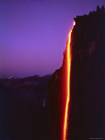 Yosemite firefall-from-glacier-point