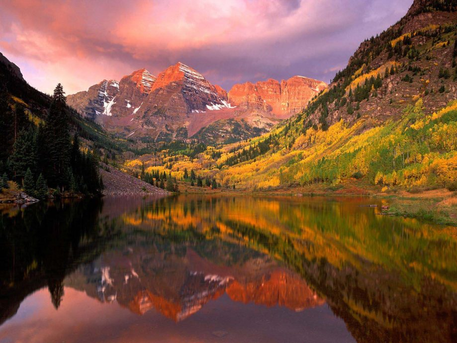 nature-wallpapers-16 mountain lake reflection
