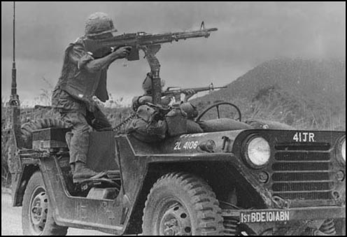 Vietnam Jeep with gunners Cam Rahn Bay