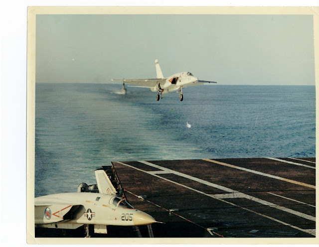 CHAPTER 27-Y RA5C landing on aircraft carrier 1965