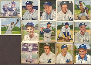 Washington Senators Baseball Cards 1950