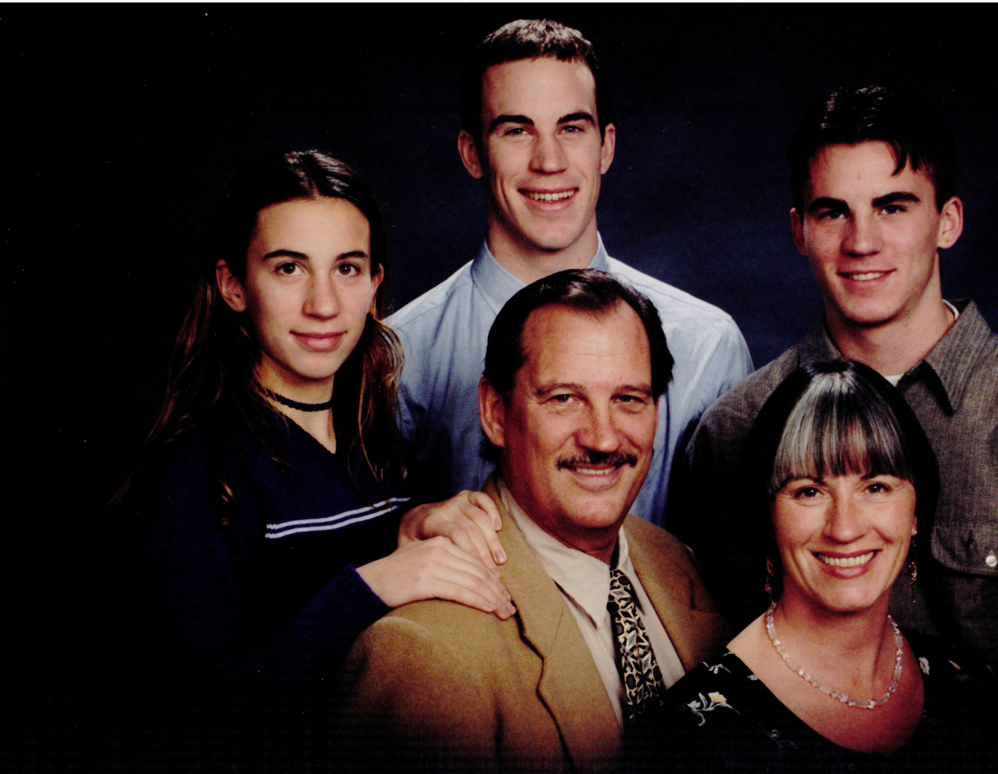 Brette Elizabeth, Aleksandyr, Sean, (Back) Dan and Joan Lavery (front) 1995