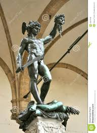 Cellini A sculpture of Perseus with the head of Medusa