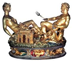 Cellini's Salt Cellar (Salieri), 1543, in gold, enamel, and ivory