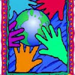 Hands on earth colorful peace avatar