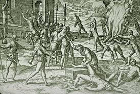 Columbus killing Indians