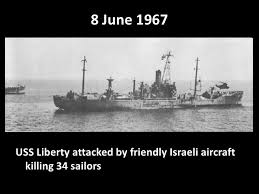 USS Liberty with dead numbered