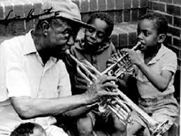 Louie Armstrong and kids