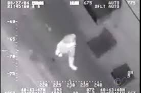 Drone Survellance photo of man