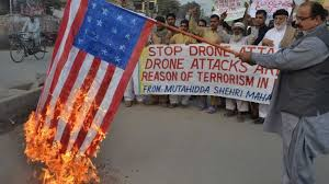 Drone death protest