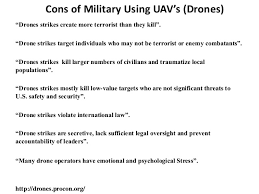 Drones Cons of using Drones